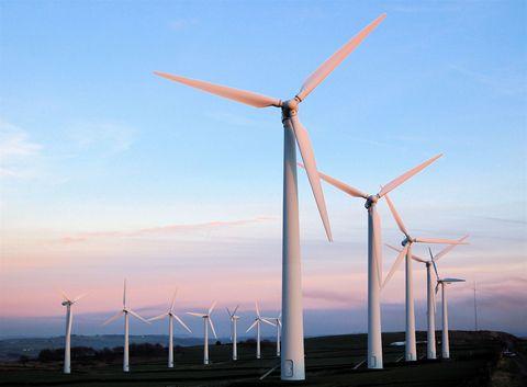 Nature, Sky, Daytime, Natural environment, Atmosphere, Wind turbine, Infrastructure, Wind, Atmospheric phenomenon, Propeller,