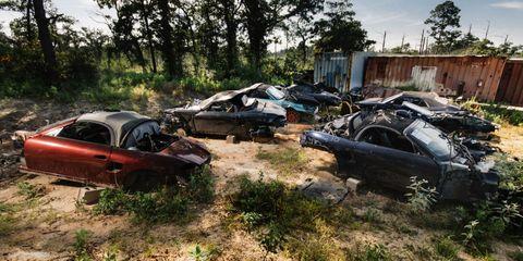 A Photographic Journey Through Texas's Secret Porsche Boxster Graveyard
