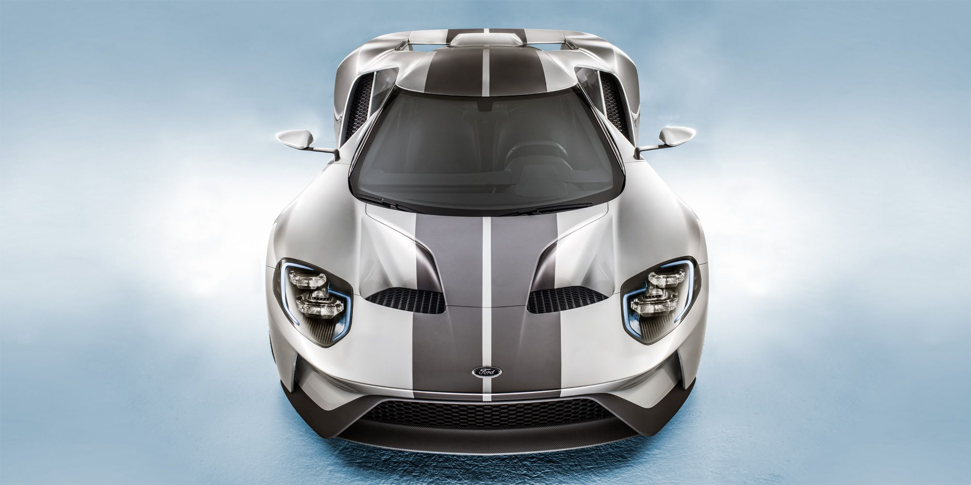 """<p>""""The car was designed and built based on the rules of a racing-series governing body, yet it will be a road car. Look at the way the air is managed over the bodywork, then look at the cabin space—it's all built to these rules, but it's absolutely beautiful.</p><p>Stunning but purposeful. And I love the fact that Ford is back in that moment it enjoyed in the Sixties.""""</p><p><em>Photograph by Josh Scott</em></p>"""