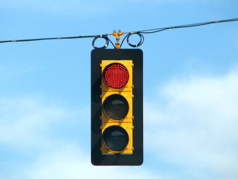 Daytime, Lighting, Yellow, Traffic light, Red, signaling device, Colorfulness, Line, Amber, Sign,