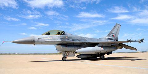 Airplane, Mode of transport, Aircraft, Sky, Fighter aircraft, Jet aircraft, Military aircraft, Road surface, Aviation, Aerospace engineering,
