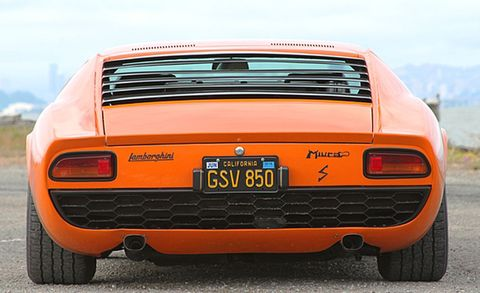 """<p>A Miura sold on Day 1 for a similar price. This beauty is """"mostly unrestored,"""" wears dazzling original paint, and has about 30,000 miles on the odometer.</p>"""