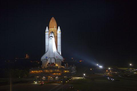Night, Rocket, Aerospace engineering, space shuttle, Landmark, Aircraft, Spacecraft, Space, Electricity, Spaceplane,