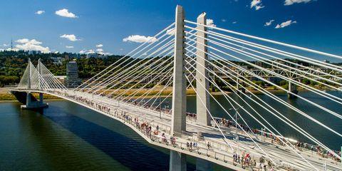 Bridge, Cable-stayed bridge, Suspension bridge, Infrastructure, Fixed link, Urban area, Metropolitan area, Landmark, Extradosed bridge, Nonbuilding structure,