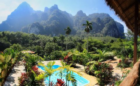 """<p><strong>Location: </strong>Khao Sok, part of Southern Thailand's largest stretch of primary Rainforest </p><p><strong>The experience: </strong>Float down a river in a lazy canoe, relax at a deserted beach, or wander primary rainforest on foot. Handmade tents feature ample space and access to a local herb garden. The Rainforest camp, opened in January 2011, is one of the only floating tented camps in the world. </p><p><strong>Don't miss: </strong>The chance <a href=""""http://www.elephanthills.com/our-unique-elephant-experience/"""" target=""""_blank"""">to  watch, wash, and feed</a> one of 12 endangered Asian elephants.</p><p><strong>Learn more:</strong> <a href=""""http://www.elephanthills.com/"""" target=""""_blank"""">Elephant Hills</a></p>"""