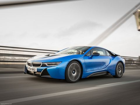 <p>The BMW i8's engine, as the name dictates, allows drivers to charge the battery by simply plugging it into a charging station or through regenerative braking. The engine can also act as a generator to get a charge to the batteries. An added bonus: It charges as you drive in sport mode. The electric front motor, which drives the front wheels, makes 129 bhp and has a range of 23 miles. Combined with the middle combustion engine, that drives the rears, the car then makes 357 total bhp.</p>