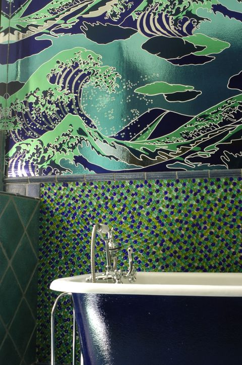 "<p>""Doing something bold in a bathroom is always fun,"" Sherman says. And given the small size of the space, you won't have to worry about whether it meshes with the rest of the home's decor. Bonus: Changing one room is easy if you're unhappy with the results. </p>"