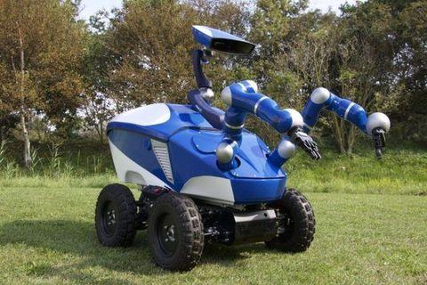 Blue, Grass, Electric blue, Cobalt blue, Grassland, Tread, Machine, Lawn, Mower, Plastic,
