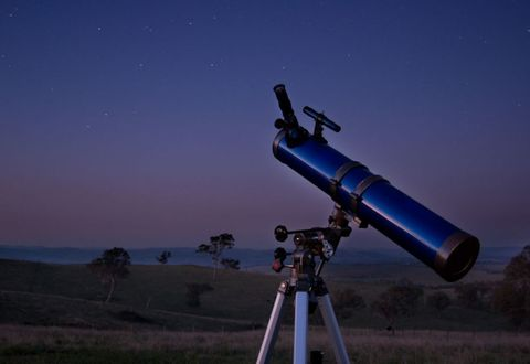 Telescope, Landscape, Camera accessory, Tripod, Space, Astronomy, Photography, Astronomical object, Star, Optical instrument,