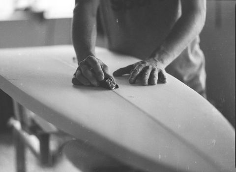 "<p>Chris Williams and Jeff Schroeder of <a href=""http://makersrow.com/store/collections/sports/products/union-surfboard-vsf""><span class=""s1"">Union Surfboards</span></a> in New York shape their custom boards by hand with input from each customer. But for the final finishing stage, after the board has been crafted from polyurethane foam, it goes out to Keith Natti at Twins Light Glassing in Gloucester, Massachusetts. Natti is specially equipped to wrap the board in fiberglass for durability. Between New York and Gloucester, Union Surfboards is turning out some of the coolest and best-performing boards for east coast waves. </p>"