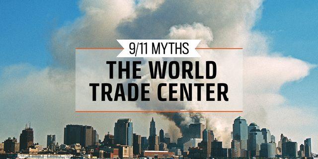 911 myths the world trade center banner