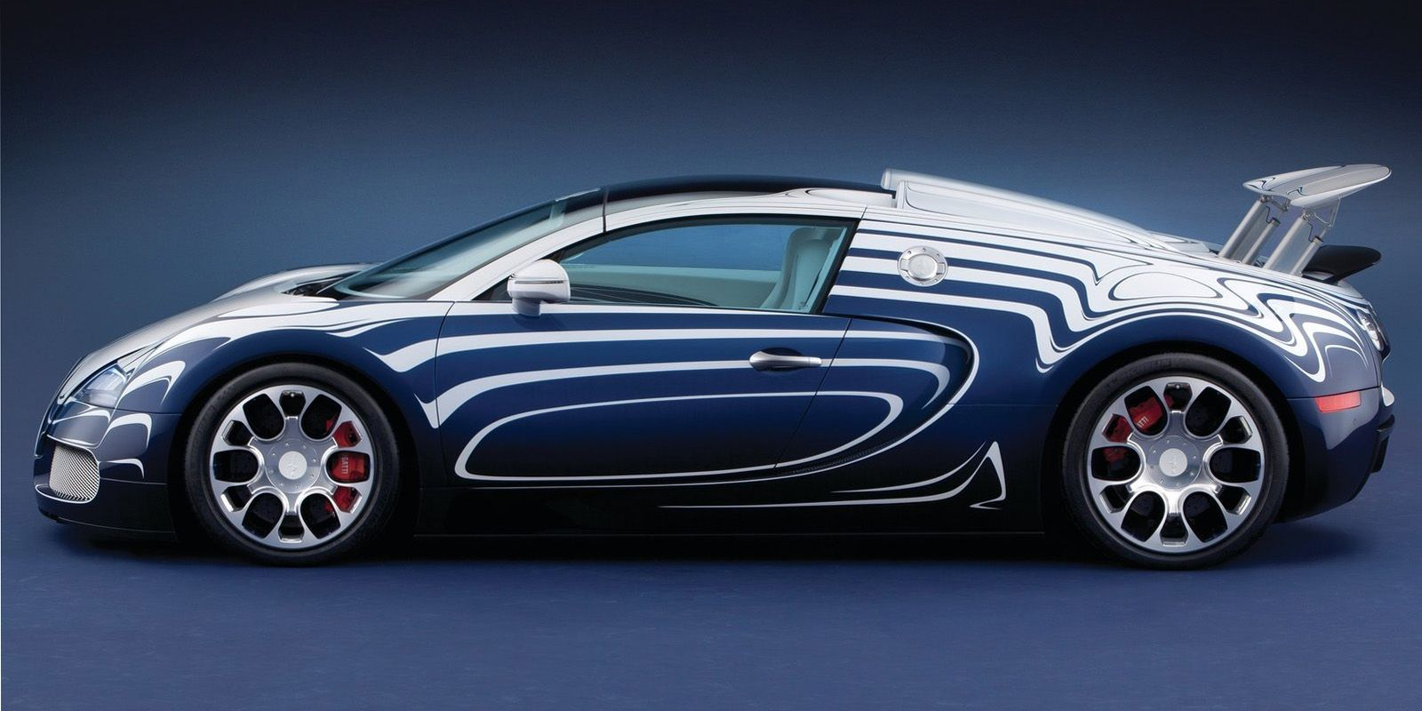 "<p>The French automaker teamed up with German porcelain maker Königliche Porzellan-Manufaktur Berlin to create this porcelain-accented special edition. It was one-of-a-kind and <a href=""http://blog.caranddriver.com/bugatti-unveils-veyron-grand-sport-l%E2%80%99or-blanc-a-bug-in-a-porcelain-shop/"">cost about $2.4 million</a>. ""L'or Blanc"" translates to ""white gold.""</p>"