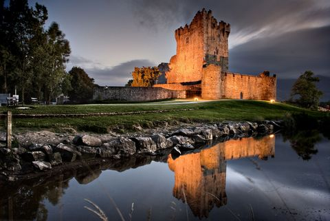 """<p>Located along the banks of a lake in County Meath, Ireland, this 15th-century castle is now a bed and breakfast. According to <a href=""""http://www.ross-castle.com/en/history/ghosts"""" target=""""_blank"""">local legend</a>, the daughter of an evil English lord, known as the Black Baron, haunts the halls of <a href=""""http://www.ross-castle.com/en/"""" target=""""_blank"""">Ross Castle</a>, while the Baron himself haunts the grounds. </p>"""