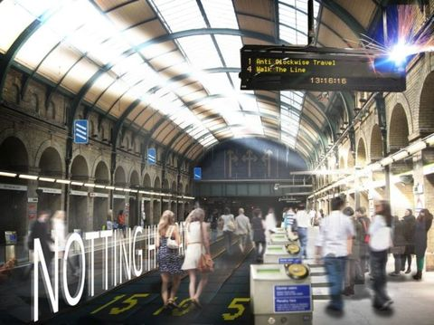 Ceiling, Dress, Fixture, Train station, Daylighting, Signage, Advertising, Commercial building, Service, Engineering,