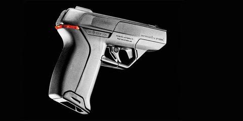 Gun, Gun accessory, Trigger, Revolver, Air gun, Gun barrel, Home appliance,