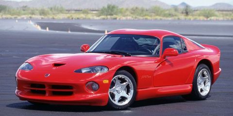 <p>In order to compete with all the Europeans (and to maintain that there is no replacement for displacement), Dodge unleashed the Viper, which sported an unheard-of-ly huge 8.0 liter V10. It made 450 bhp and topped out at 180 mph.</p>