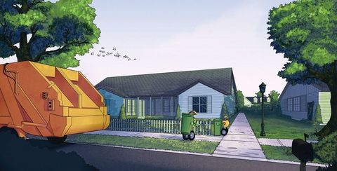 Property, House, Real estate, Home, Land lot, Garden, Roof, Residential area, Lawn, Cottage,