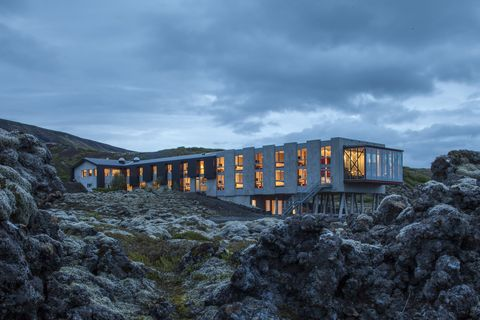 "<p>Located about an hour from Iceland's Capital, Reykjavik, <a href=""http://ioniceland.is"" target=""_blank"">Ion Luxury Adventure Hotel</a> is a modern design hotel that sits at the foot of a massive volcano. Surrounded around some incredible views, I love how the hotel compliments its location with its panoramic windows and its cozy and Nordic furnishings.</p>"