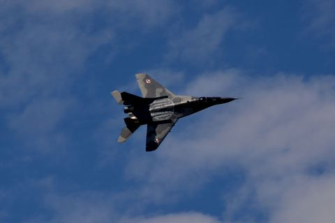 Airplane, Daytime, Aircraft, Sky, Event, Cloud, Fighter aircraft, Jet aircraft, Flight, Military aircraft,