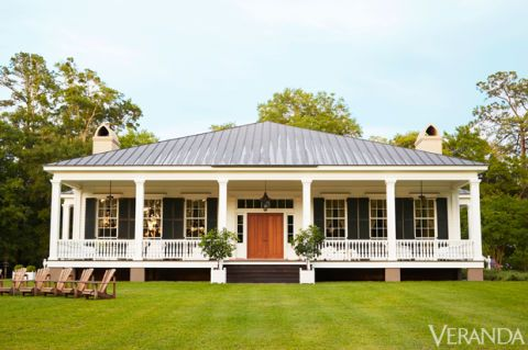 "<p><em>Birdsong,</em> as the farm is called, is just the sort of place you might have found in the early 19th century on Wadmalaw Island, just south of Charleston, South Carolina. The <a target=""_blank"" href=""http://www.veranda.com/decorating-ideas/g1256/amelia-handegan-southcarolina-home/"">classic Greek Revival-style house</a> is at first glance modest and unpretentious, with gracious proportions and handsome features. A lovely porch looks over the water and invites the sea breeze. Triple-hung windows filter the golden Low Country light. A passerby might nod appreciatively and carry on her way. If invited in, however, she might swoon. One arrives at a country house and enters a palace.</p>"