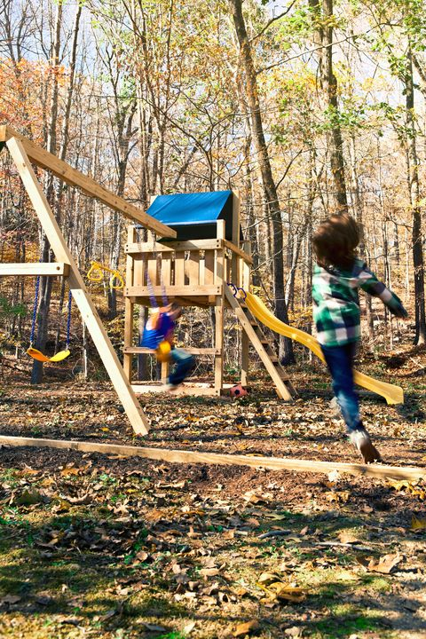 Easy Wooden Swing Set Plans - How to Build a Swing Set for ...