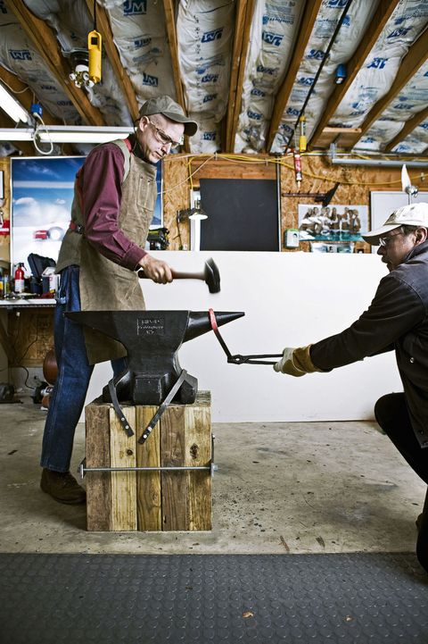 Backyard Forge how to make a forge and start hammering metal - how to build a forge