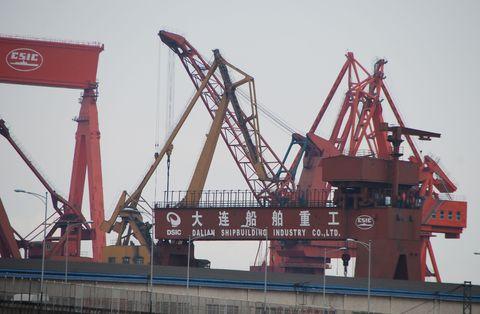 Machine, Iron, Crane, Metal, Engineering, Steel, Construction equipment, Ship, Cargo ship,