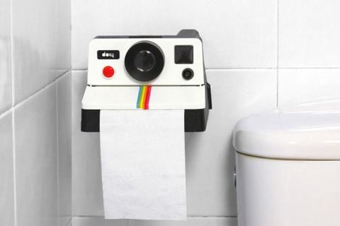"<p>While the bathroom is one place you <em>don't</em> want to capture on camera, this Polaroid-inspired holder is surprisingly spot-on — instead of dispensing square photos, it shares (and <a href=""https://www.youtube.com/watch?v=Gysu0kgFwT0"" target=""_blank"">spares</a>!) TP squares.</p><p><i>$23, <a href=""http://doiydesign.com/en/products/48-pola-rroll.html"" target=""_blank"">doiydesign.com</a></i></p>"