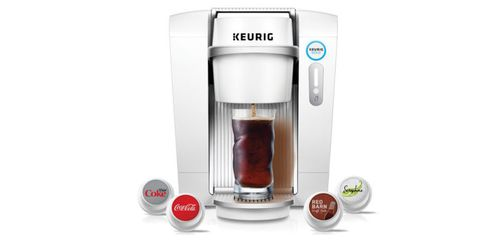 Small appliance, Liquid, Kitchen appliance, Home appliance, Logo, Machine, Ingredient, Major appliance, Kitchen appliance accessory, Drip coffee maker,