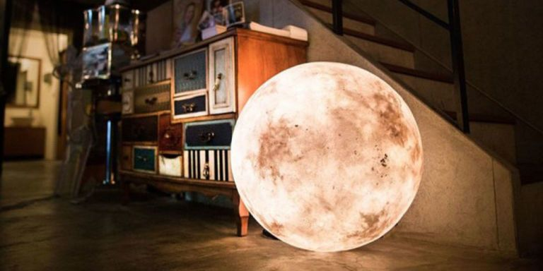 Your House Needs a Lamp That Looks Like the Moon