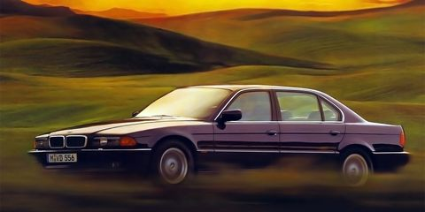 <p>With tall windows and an elegantly sleek front, the BMW 7 series from the 90s has always been a looker.</p>