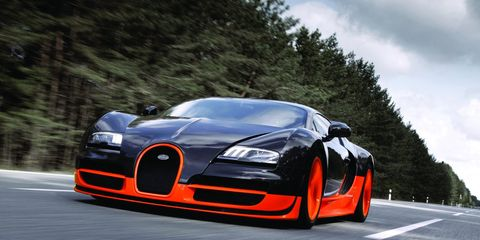"<p>Top speed: <a href=""http://www.digitaltrends.com/cars/back-on-top-bugatti-veyron-super-sport-is-once-again-the-worlds-fastest-production-car/"" target=""_blank"">267.9 mph</a></p><p>No one has <em>officially</em> beaten the Super Sport's top speed (the Hennessey Venom has run 270 MPH +, but that wasn't officially official) record—yet. With the Chiron coming soon, Bugatti might just beat itself.</p>"