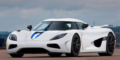 "<p>Top speed: <a href=""http://www.cbsnews.com/pictures/top-10-fastest-cars-in-the-world/15/"" target=""_blank"">260 mph</a></p><p>With a twin-turbo V8 that produces 1,140 hp, it's no wonder the Agera R can smash its way up to 260 mph.</p><p><br></p>"