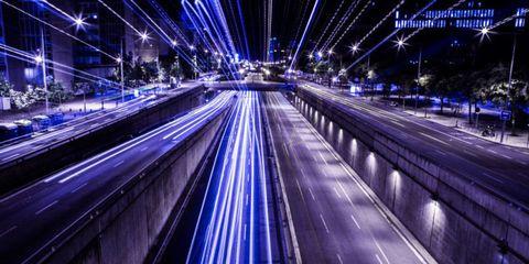 Night, Blue, Electricity, Urban area, Road, Infrastructure, Metropolitan area, Architecture, City, Metropolis,