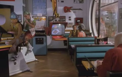Back to the Future diner exercise bikes
