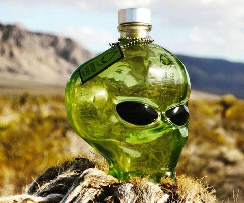 Fluid, Liquid, Bottle, Glass, Skull, Glass bottle, Sunglasses, Goggles, Bone, Transparent material,