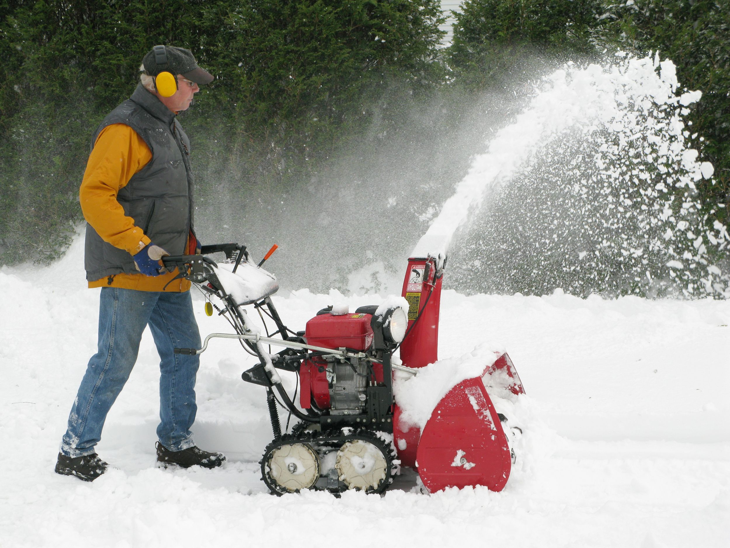 "<p>You don't always see those blades moving because they are covered in snow, but they are there and they are sharp. Always keep hands and clothes far away from any moving parts on a snow thrower.</p><p><a href=""http://www.popularmechanics.com/home/tools/reviews/a9939/so-you-have-a-snow-thrower-heres-what-else-you-need-16365732/"">How to Use a Snow Thrower</a></p>"