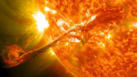 Yellow, Orange, Colorfulness, Amber, Heat, Space, World, Astronomical object, Geological phenomenon, Sun,
