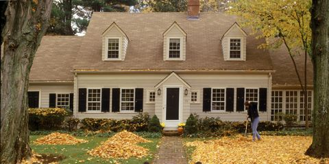 Deciduous, Window, Property, House, Leaf, Tree, Real estate, Home, Building, Autumn,