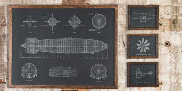 You need hindenburg blueprints on your bedroom wall malvernweather Gallery