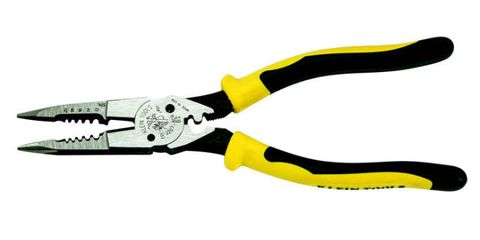 Yellow, Line, Tool, Pliers, Wire stripper, Metalworking hand tool, Cable, Snips, Hair accessory, Office supplies,