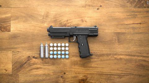 Wood, Gun, Firearm, Trigger, Hardwood, Gun accessory, Gun barrel, Air gun, Tan, Wood stain,