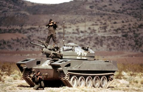 Soldier, Tank, Army, Combat vehicle, People, Military vehicle, Military organization, Military, Self-propelled artillery, Military person,