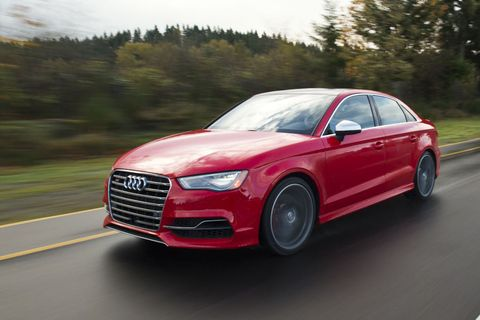 <p>Whether you pick the Audi S3, the Audi TTS, or the Volkswagen Golf R, you're going to get a car with 292 horsepower. Using a shared 2.0-liter engine, that gives all three a specific output of 146 horsepower per liter.</p>