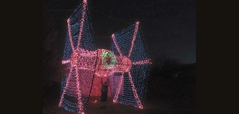 Darkness, Night, Light, Midnight, Christmas decoration, Holiday, Electricity, Christmas lights, Christmas, Decoration,