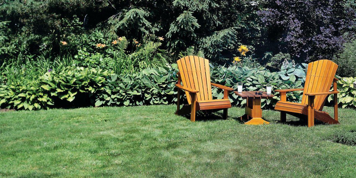 Adirondack Chairs Fire Pit Patio