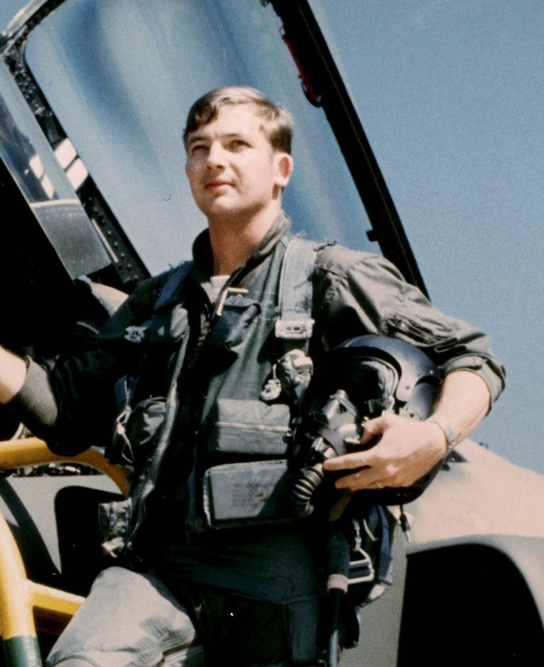 "<p>Charles B. DeBellevue was the top scoring American airman in the Vietnam War with a total of six kills, and he was the first Air Force <a href=""https://en.wikipedia.org/wiki/Weapon_systems_officer"">Weapons Systems Officer</a> (WSO) to earn ace status. Only four other American aviators achieved ace status in Vietnam. DeBellevue flew in a <a href=""https://en.wikipedia.org/wiki/McDonnell_Douglas_F-4_Phantom_II"">F-4D Phantom II</a> supersonic jet with a secret APX-80 electronics system code-named the ""Combat Tree."" The Combat Tree could pick up <a href=""https://en.wikipedia.org/wiki/Identification_friend_or_foe"">IFF</a> signals from MiG's and determine their location while the enemy aircraft were still beyond visual range. DeBellevue scored his first four victories with pilot <a href=""https://en.wikipedia.org/wiki/Richard_Stephen_Ritchie"">Steve Ritchie</a>, including an <a href=""https://en.wikipedia.org/wiki/AIM-7_Sparrow"">AIM-7 Sparrow</a> missile strike from roughly four miles out, an incredibly long-range hit. The last two victories came with pilot John A. Madden. Madden and DeBellevue were pursuing two <a href=""https://en.wikipedia.org/wiki/Mikoyan-Gurevich_MiG-19"">MiG-19's</a> when DeBellevue scored his last kill. He later described the encounter: ""We fired one <a href=""https://en.wikipedia.org/wiki/AIM-9_Sidewinder"">AIM-9</a> missile which detonated 25 feet from one of the MiG-19's. We switched the attack to the other MiG-19, and one turn later we fired an AIM-9 at him. I observed the missile impact the tail of the MiG. The MiG continued normally for the next few seconds, then began a slow roll and spiraled downward, impacting the ground with a large fireball."" </p>"