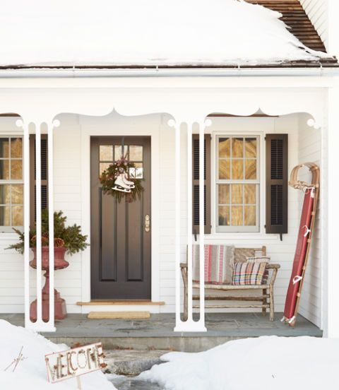 """<p>Let your kids leave their sled leaning by your home's entryway for a subtle decoration. </p><p><em><a href=""""http://www.countryliving.com/home-design/house-tours/g2160/marisa-bistany-connecticut-farmhouse/?slide=2"""" target=""""_blank"""">See more at Country Living »</a></em><a href=""""http://www.countryliving.com/home-design/house-tours/g2160/marisa-bistany-connecticut-farmhouse/?slide=2"""" target=""""_blank""""></a></p>"""
