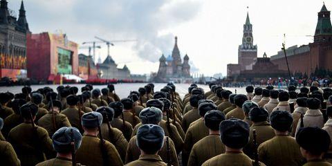 People, Military uniform, Soldier, Military person, Steeple, Spire, Military organization, Headgear, Cap, Landmark,