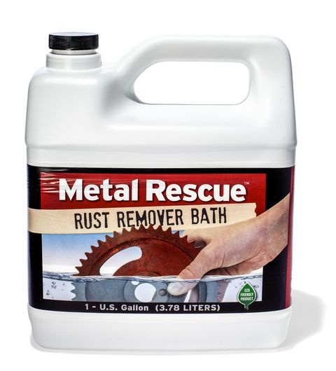 <p><strong>Price</strong>: $25 for 1 gallon</p><p>Six hours in the Metal Rescue bath will get your part clean enough to finish the job with hand tools. Leave it in for 24 hours, though, and it's impeccable. Worth the wait.</p>